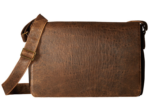 Scully Squadron Messenger Bag - Antique Brown
