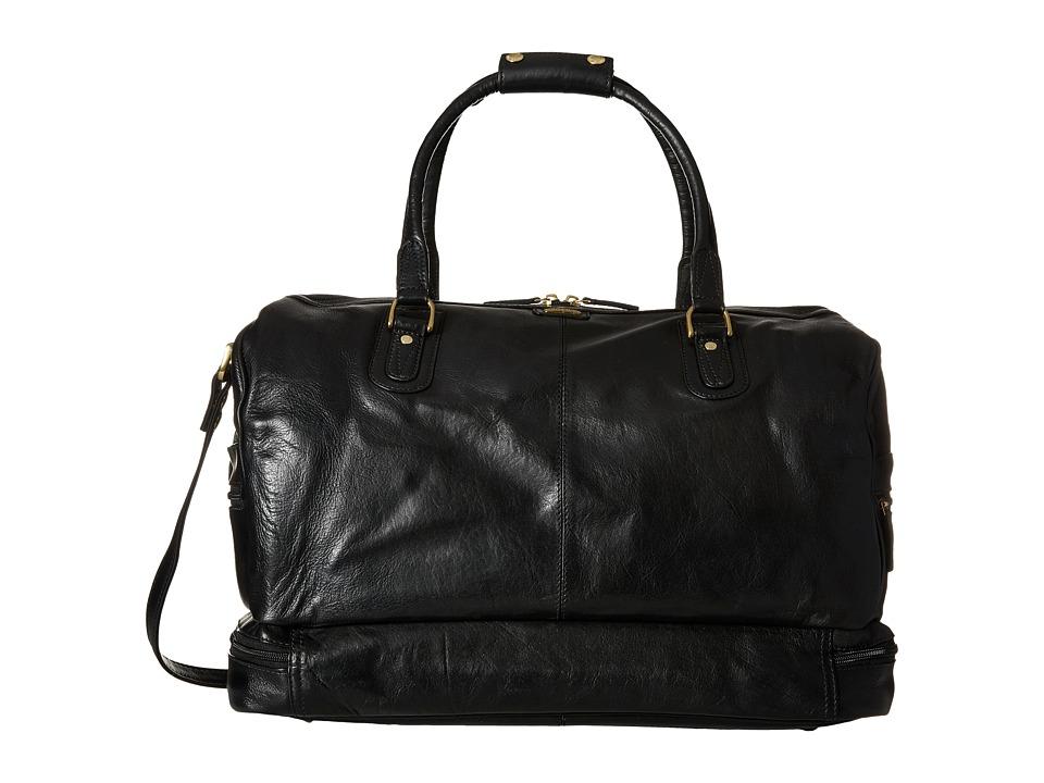 Scully Hidesign Eiron Large Duffel Bag Black Duffel Bags