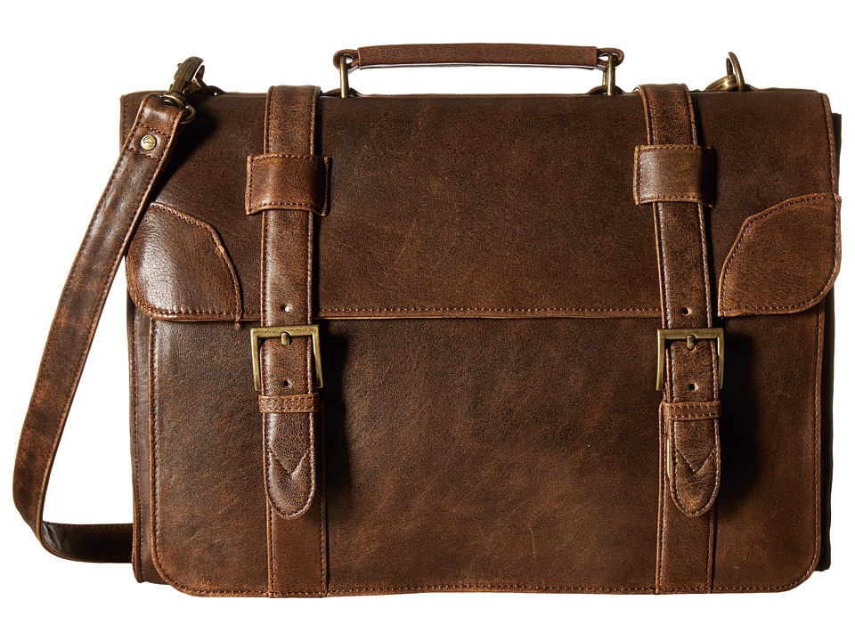 Scully - Squadron Satchel Briefcase (Antique Brown) Briefcase Bags
