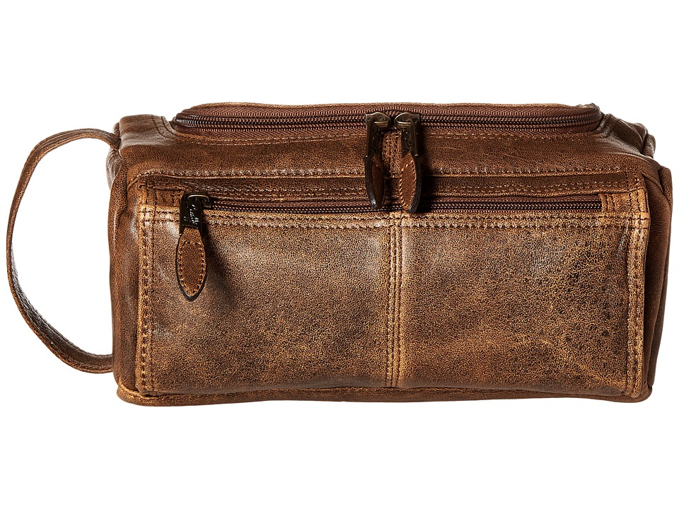 Scully - Squadron Shave Kit (Antique Brown) Wallet