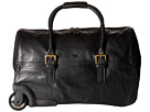Scully Hidesign Weekend Getaway Wheeled Carry-On (Black)