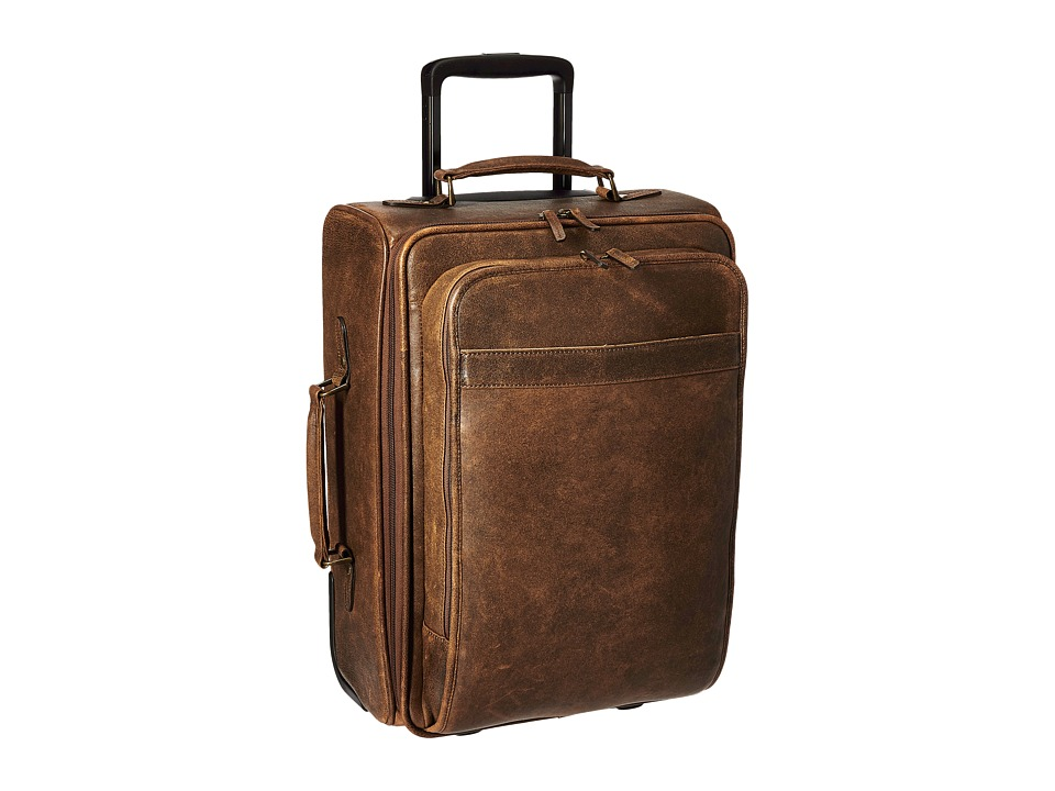Scully - Squadron Wheeled Carry-On (Antique Brown) Carry on Luggage