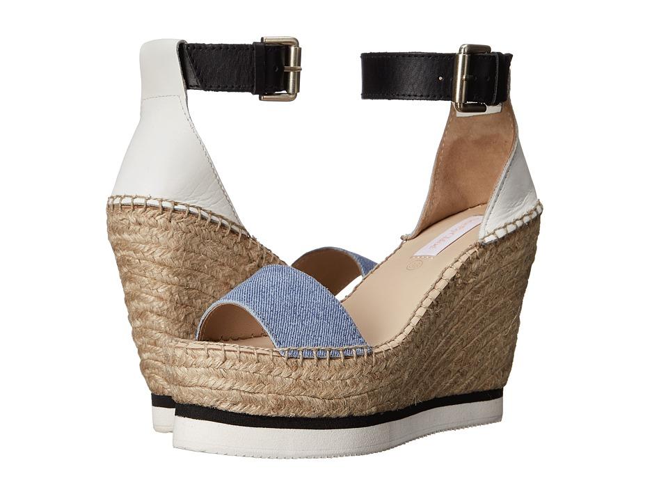 See by Chloe SB26152 Denim Womens Wedge Shoes