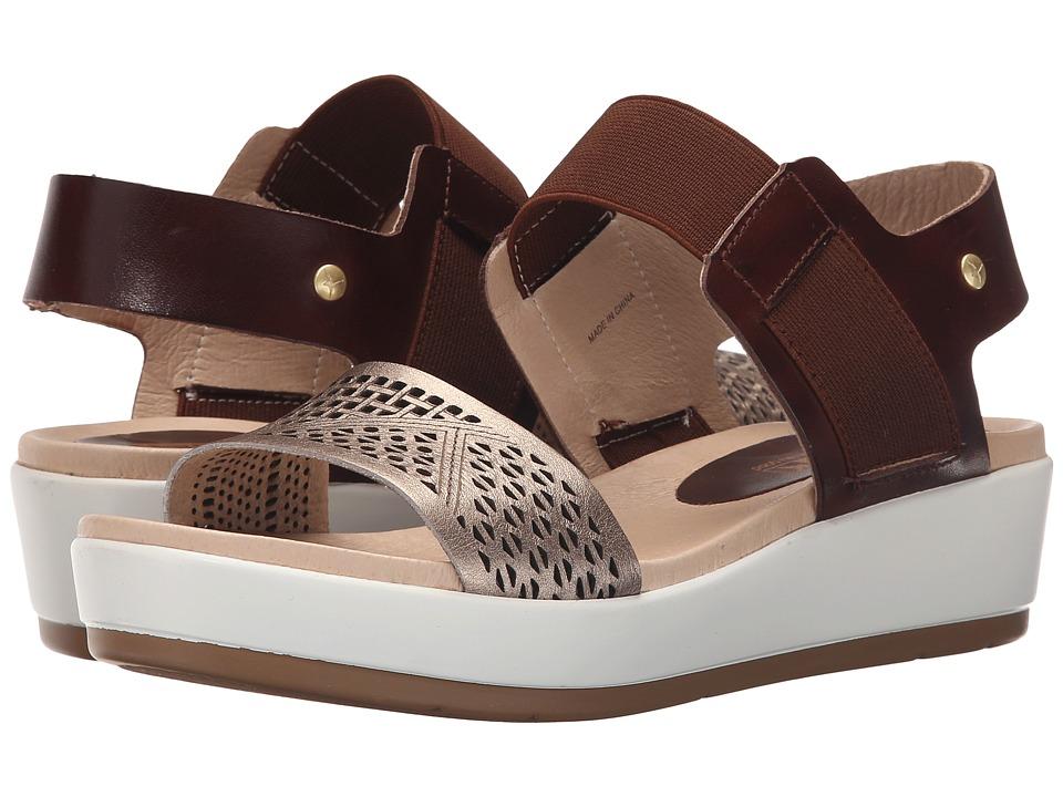 Pikolinos Mykonos W1G 0759 Cacao/Onyx Womens Wedge Shoes