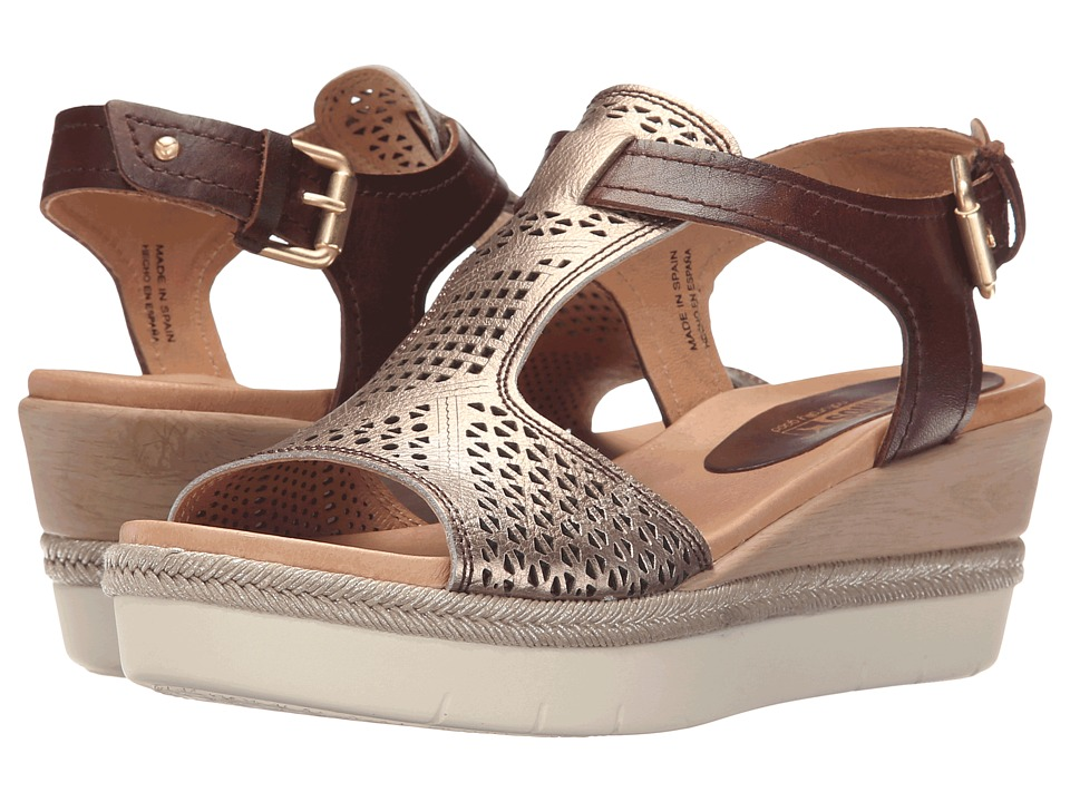 Pikolinos Madeira W3G 0786C1 Cacao/Onyx Womens Wedge Shoes