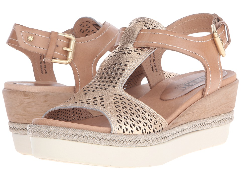 Pikolinos Madeira W3G 0786C1 Nude/Golden Pink Womens Wedge Shoes