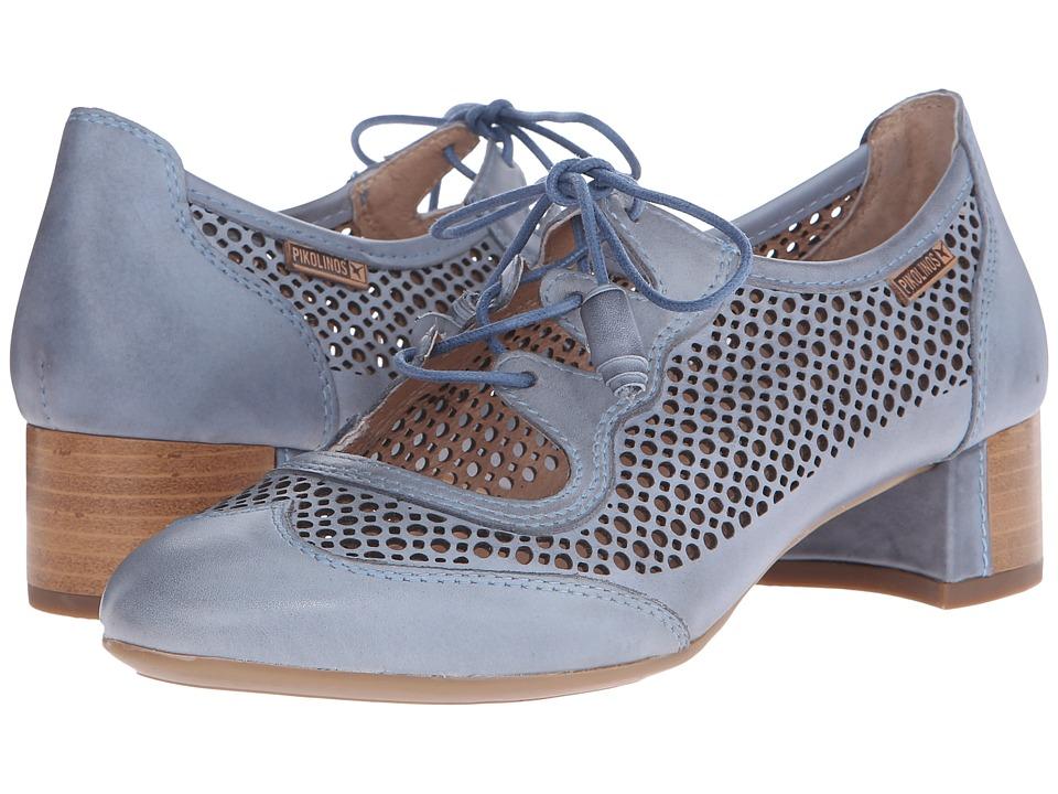 Pikolinos - Saona W8E-4554 Denim Womens Shoes $175.00 AT vintagedancer.com