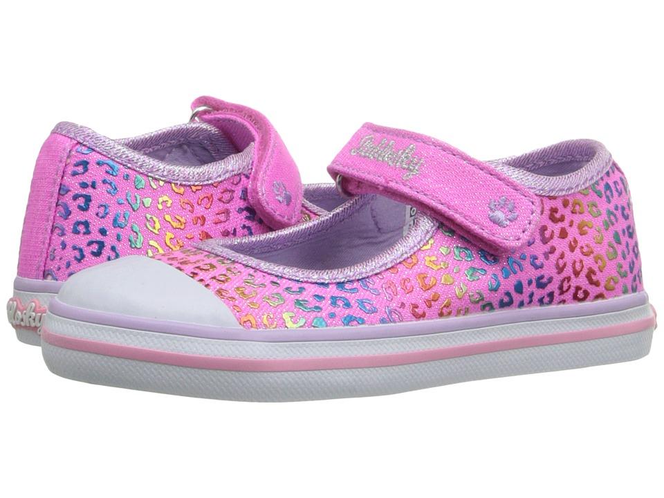 Pablosky Kids 9320 Toddler Fuchsia Glitter Girls Shoes