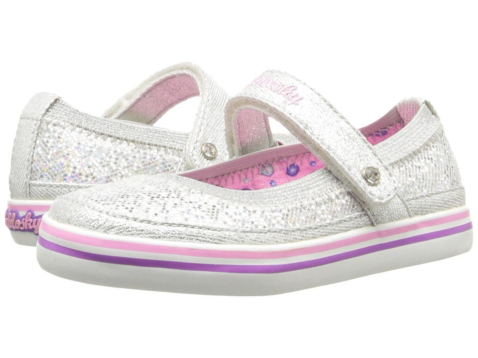 Pablosky Kids 9313 Toddler Silver Girls Shoes