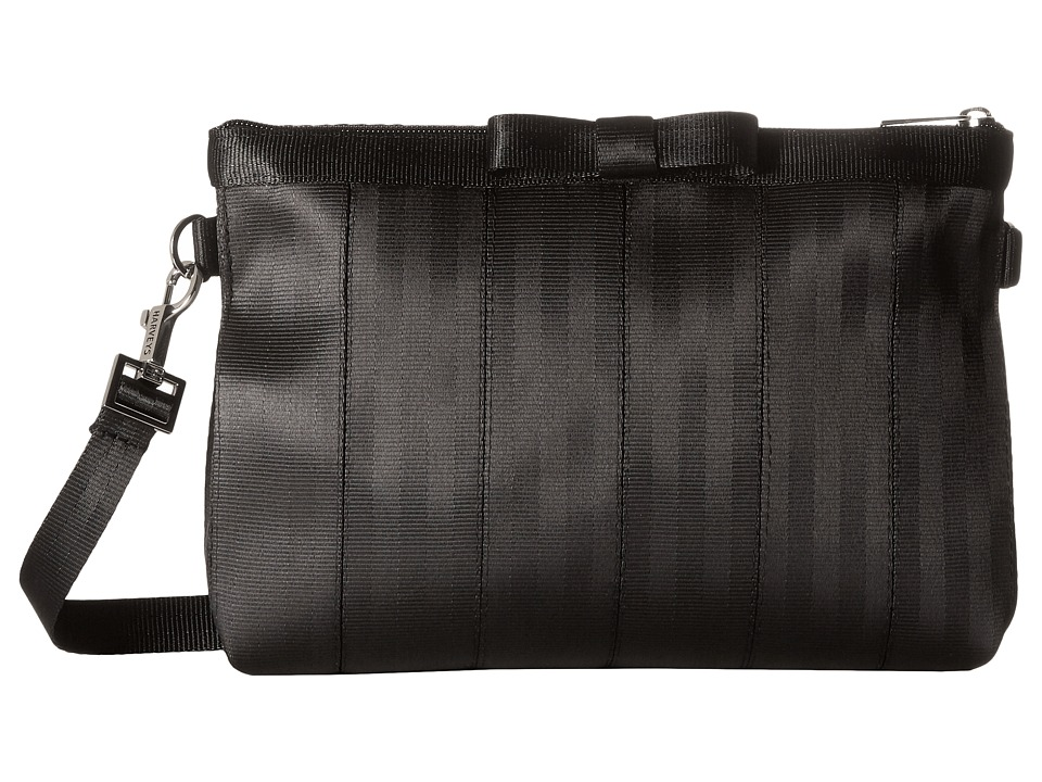 Harveys Seatbelt Bag - Bow Clutch (Black) Clutch Handbags