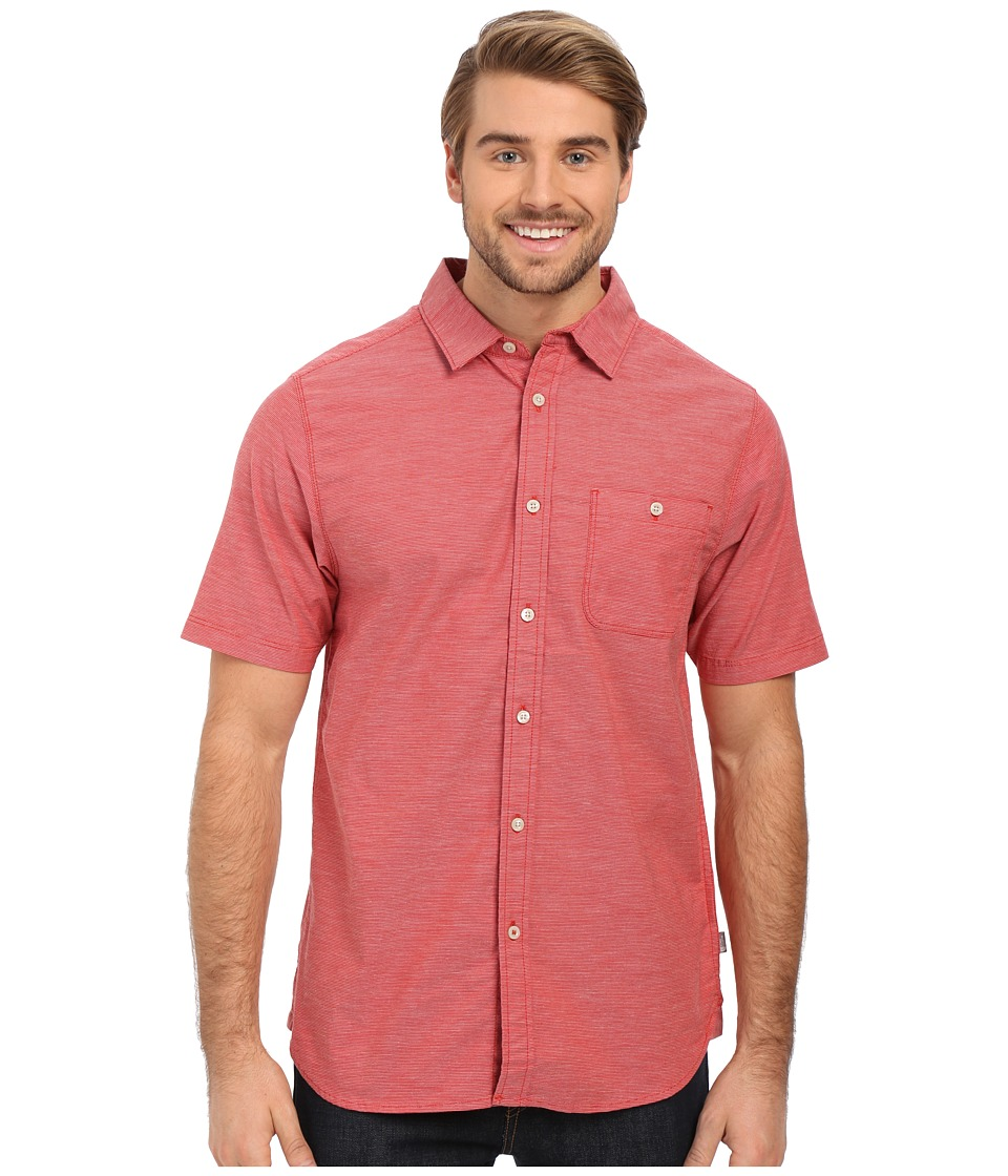 The North Face Short Sleeve Red Point Shirt Pompeian Red Mens Short Sleeve Button Up