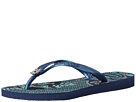 Havaianas - Slim Thematic Flip Flops (Navy Blue/Navy Blue)