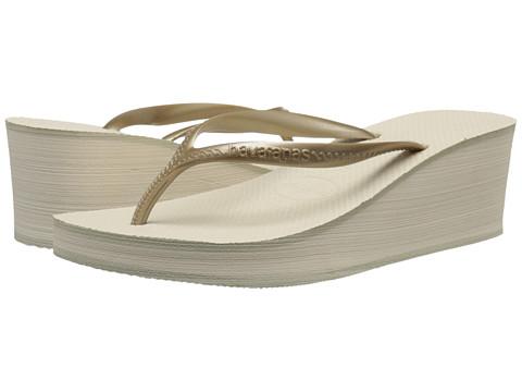 Havaianas High Fashion Flip Flops - Beige