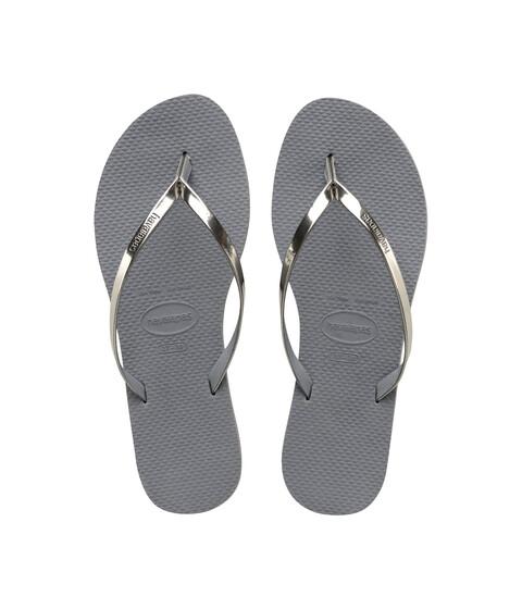 Havaianas You Metallic Flip Flops - Steel Grey