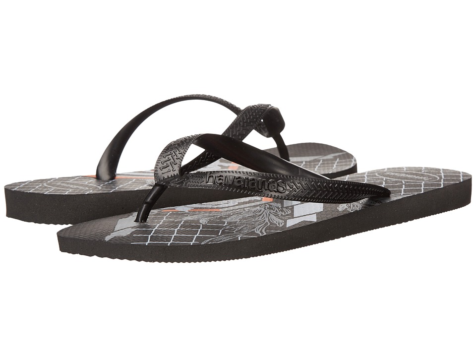 Havaianas Bravo Flip Flops Black/Black Mens Sandals