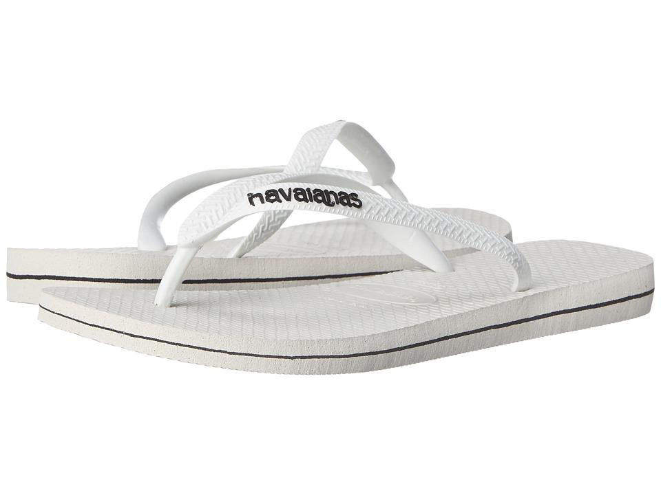 Havaianas Logo Filete Flip Flops White/Black Mens Sandals