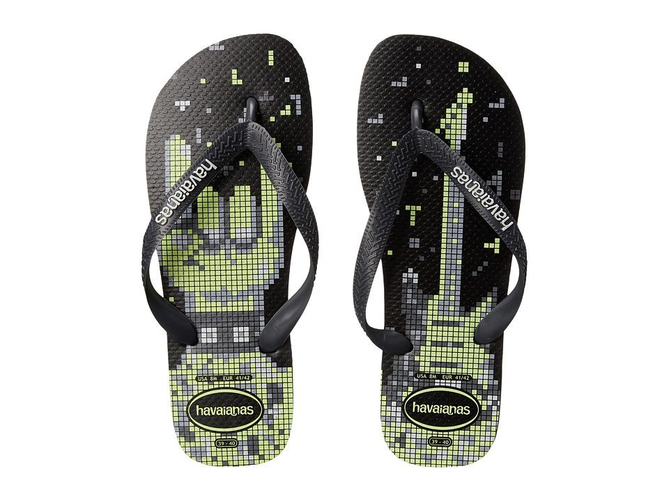 Havaianas 4 Nite Flip Flops Black/Grey/White Mens Sandals