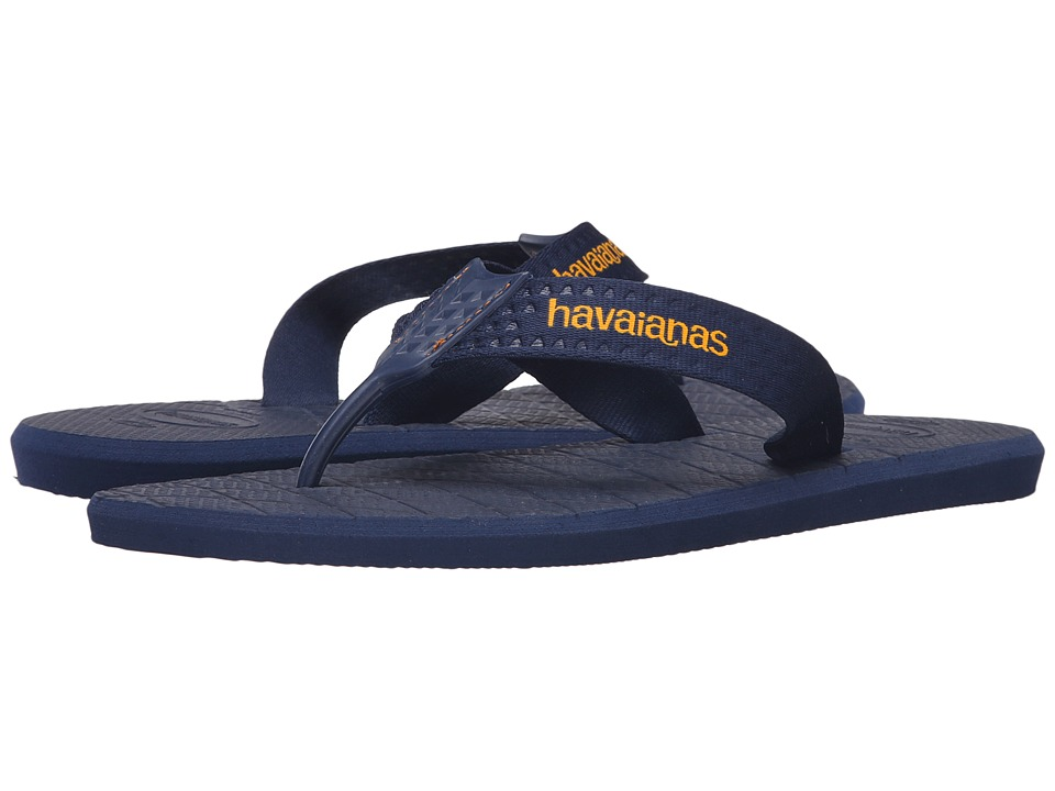 Havaianas - Level Flip Flops (Navy Blue) Men's Sandals