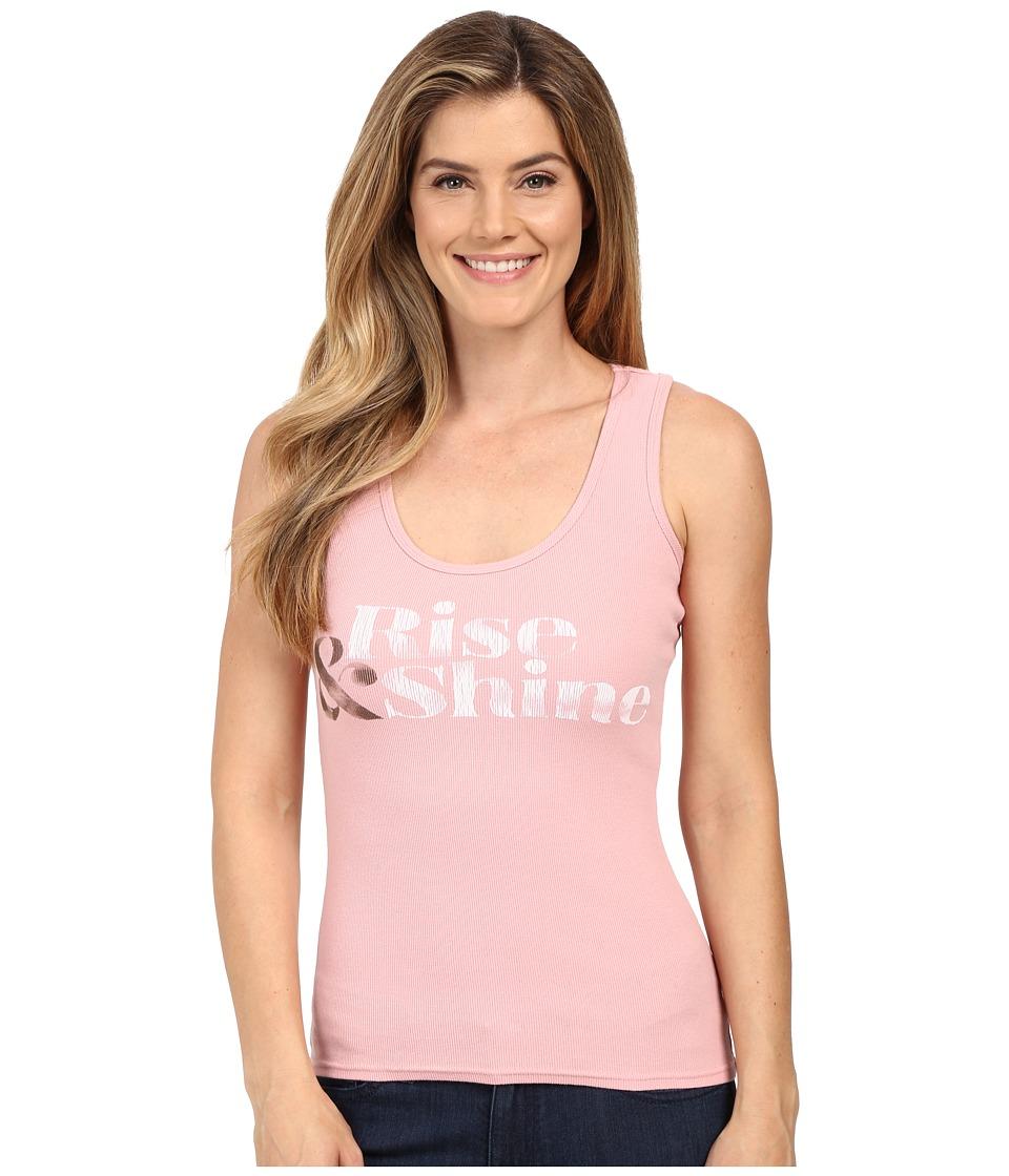 Life is good Rise Shine Sleep Tank Top Dusty Pink Womens Sleeveless