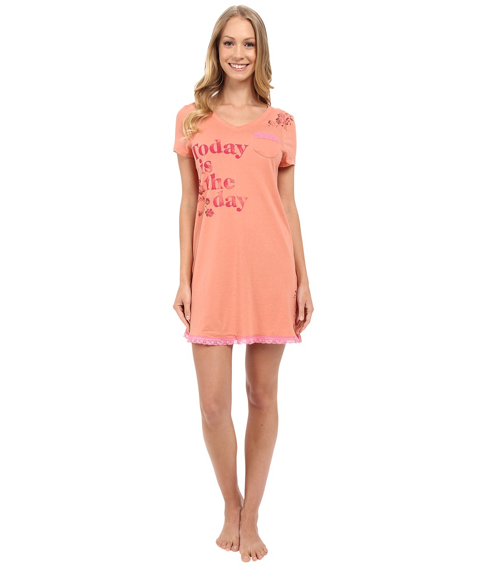 Life is good Today Is The Day Lace Sleep Dress Tawny Peach Womens Pajama