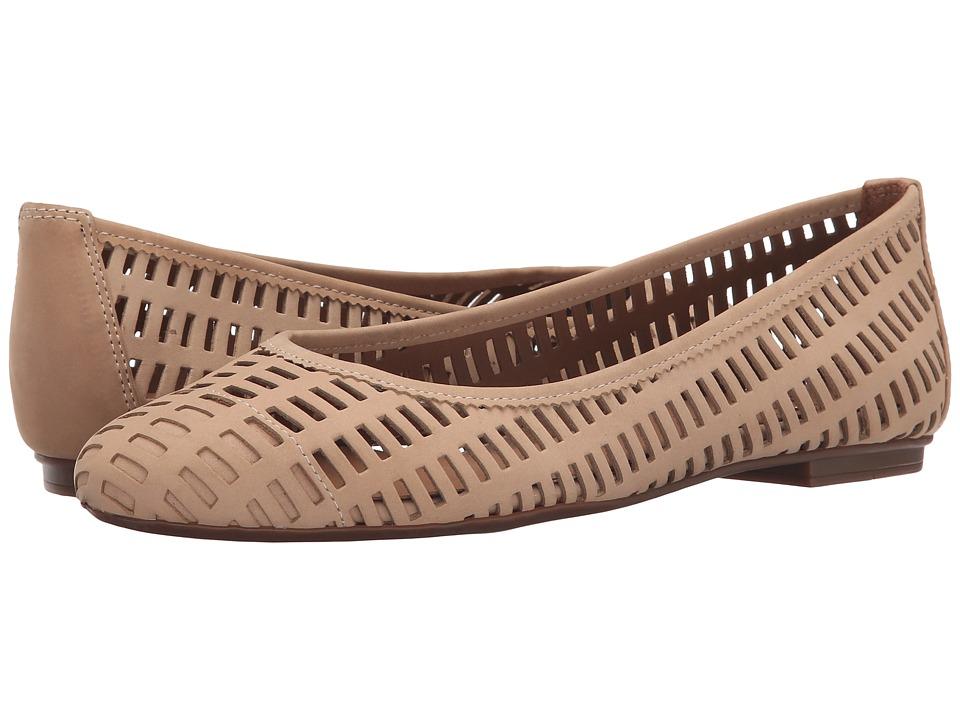 French Sole Quartz Desert Nubuck Womens Flat Shoes