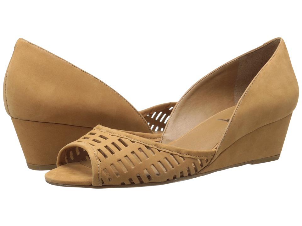French Sole Quark Tan Nubuck Womens Flat Shoes