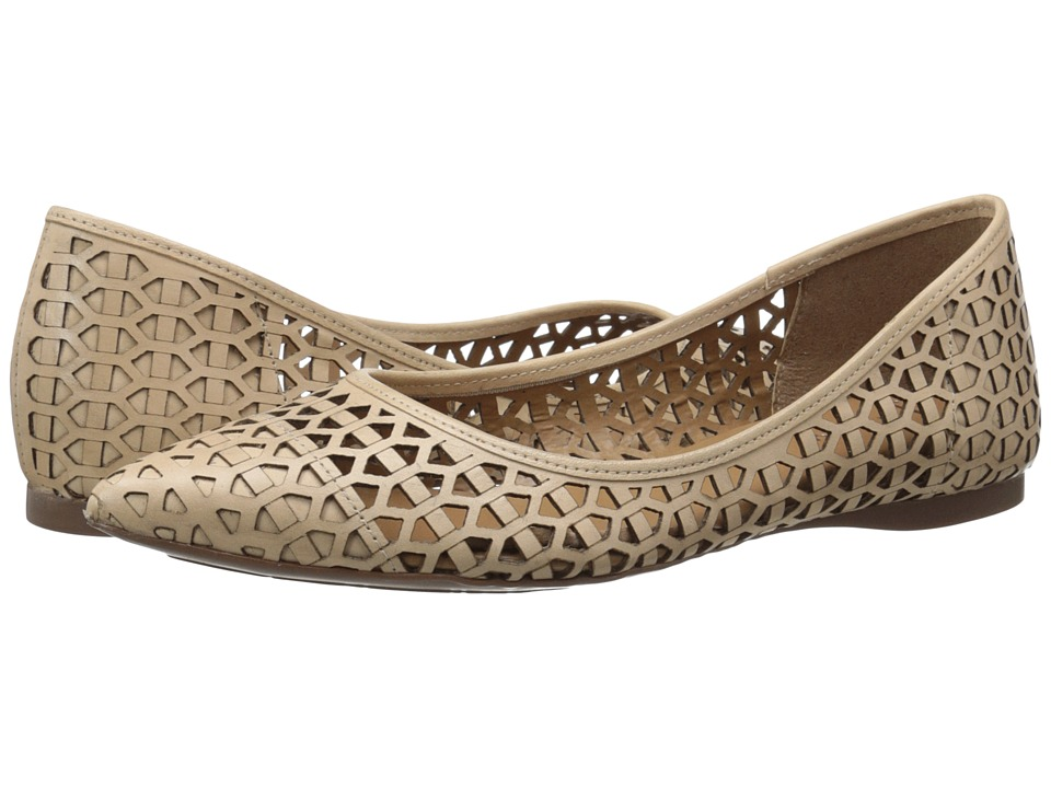 French Sole Quantum Natural Leather Womens Flat Shoes