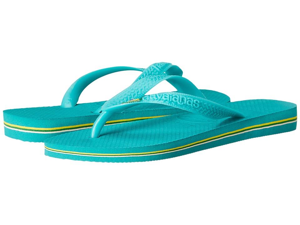 Havaianas Brazil Flip Flops Lake Green/Lake Green Womens Sandals