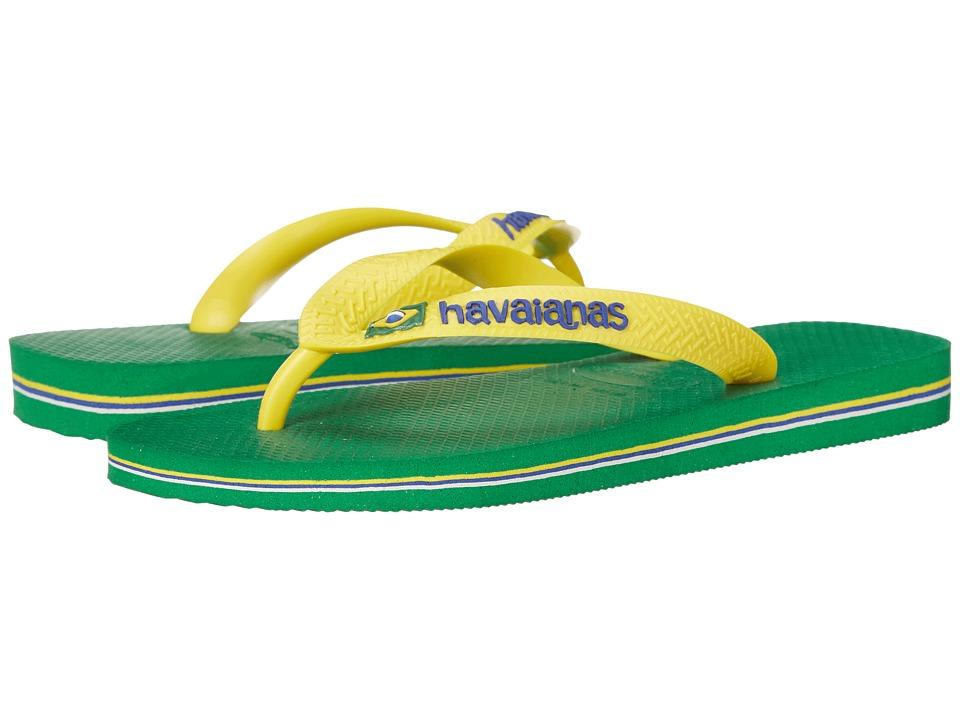Havaianas Brasil Logo Unisex Flip Flops Green Womens Sandals