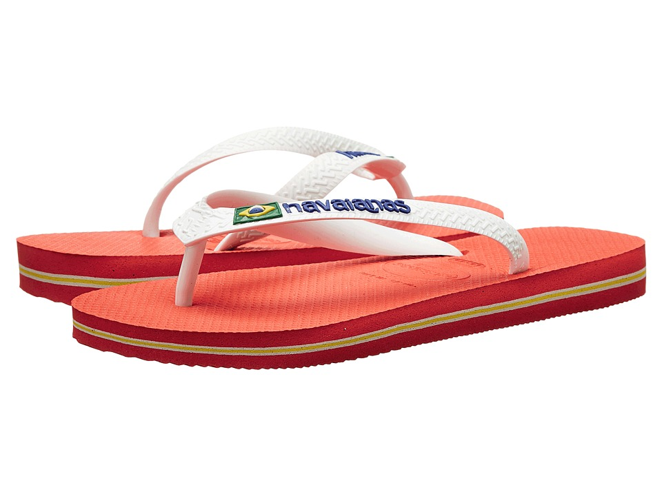 Havaianas Brasil Logo Unisex Flip Flops Pumpkin Womens Sandals