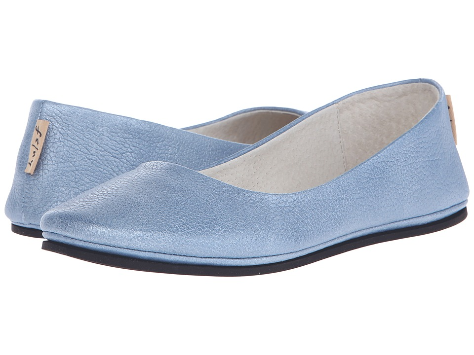 French Sole Sloop Jeans Metallic Pebbles Womens Flat Shoes