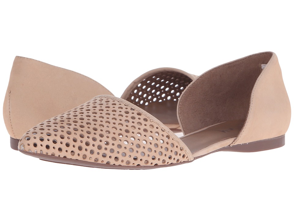 French Sole Quotient Desert Nubuck Womens Flat Shoes