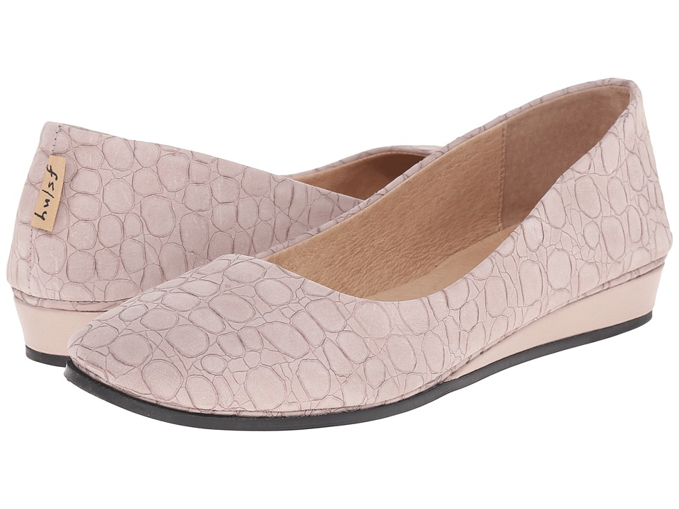 French Sole Zeppa (Taupe Croco)