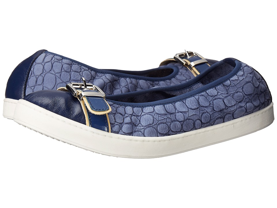 French Sole Outdoors Blue Nappa Womens Flat Shoes