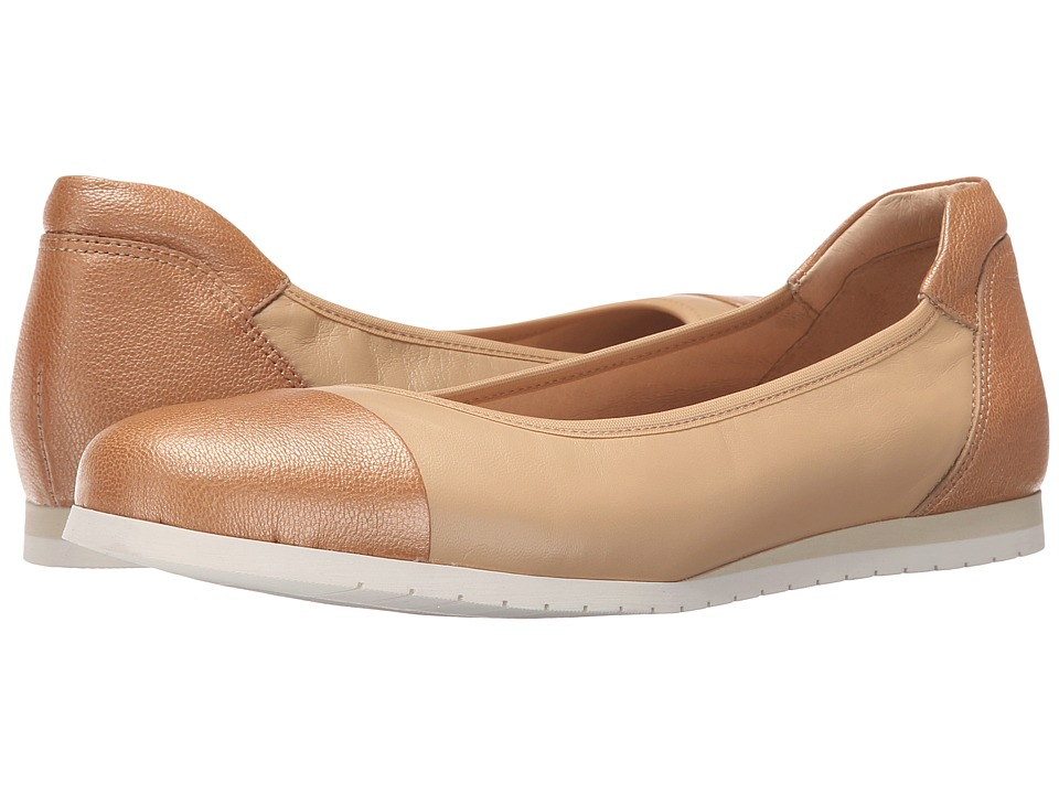 French Sole Oblige Beige Nappa Womens Flat Shoes