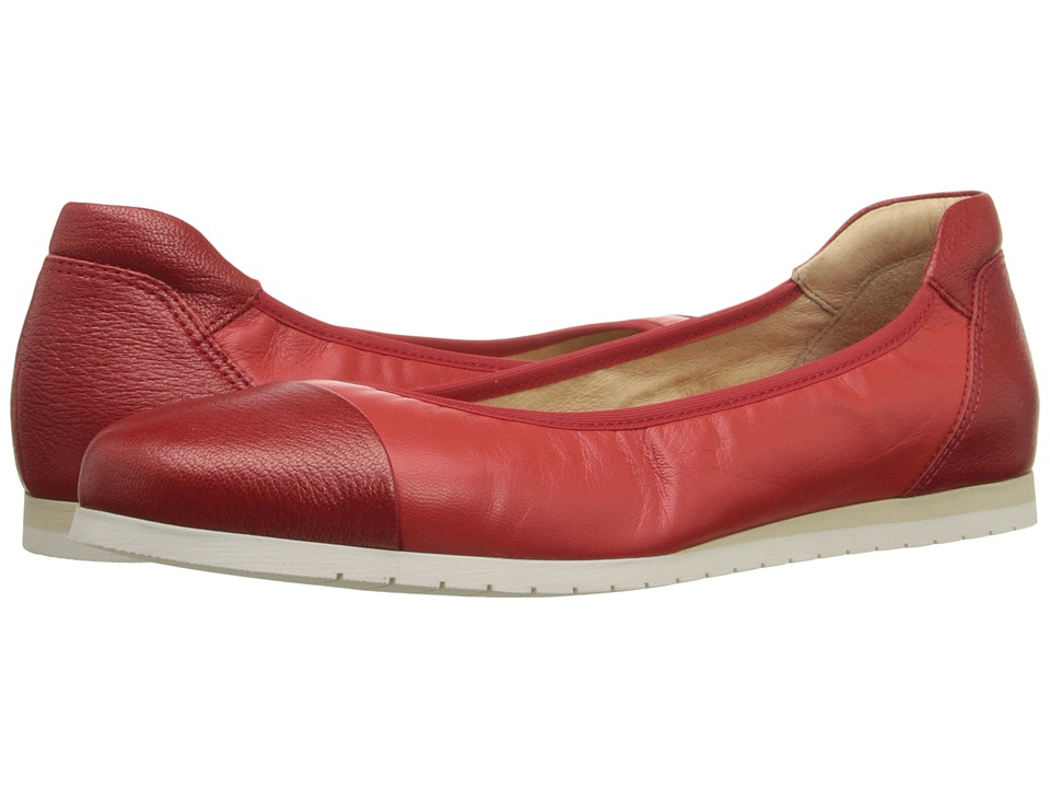 French Sole Oblige Red Nappa Womens Flat Shoes