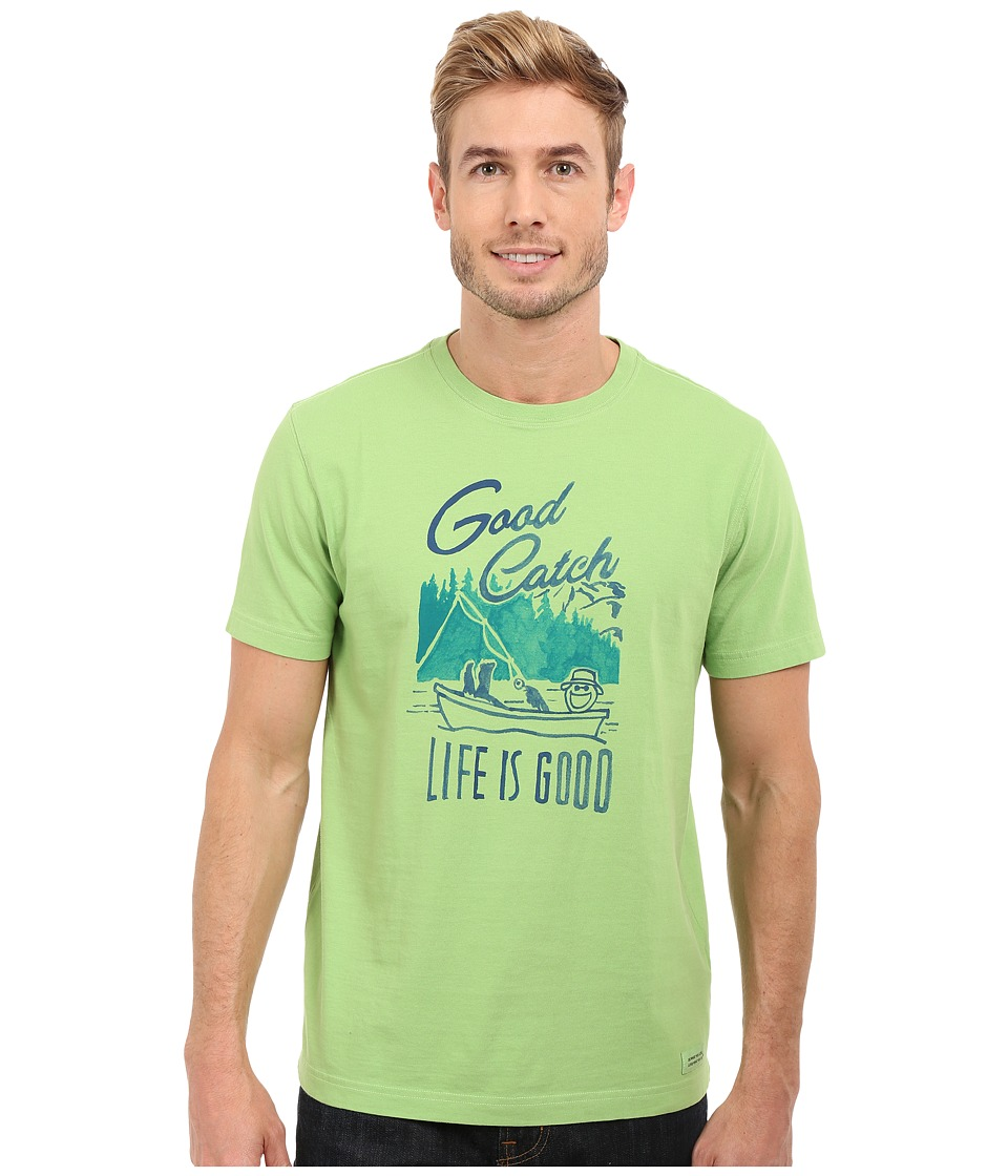Life is good - Good Catch Crusher Tee (Fern Green) Men