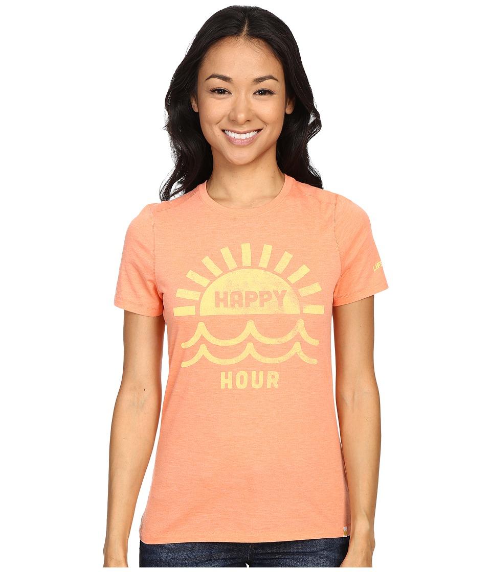 Life is good - Happy Hour Sun Water Cool Tee (Fresh Peach) Women