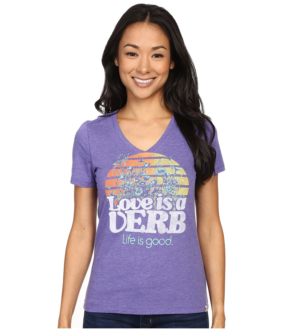 Life is good - Life Is Good Love Is A Verb Cool Vee (Blue Violet) Women