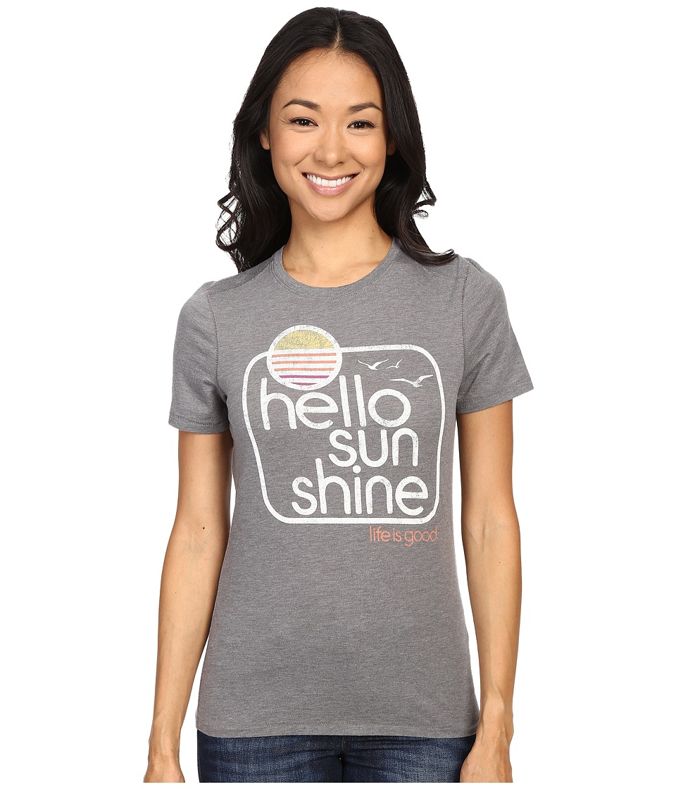 Life is good Life Is Good Hello Sunshine Birds Cool Tee Slate Gray Womens T Shirt