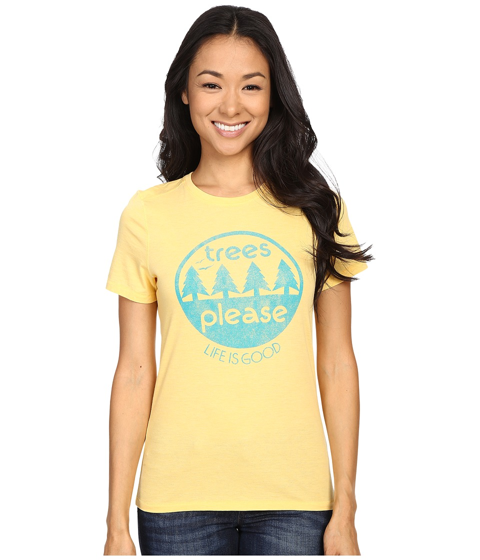 Life is good - Life Is Good Trees Please Circle Cool Tee (Sunny Yellow) Women