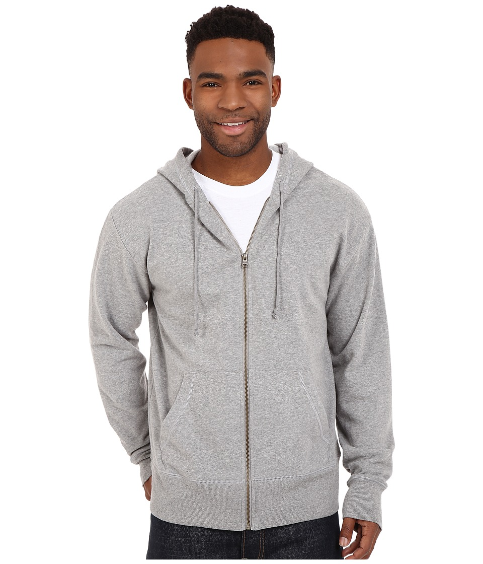 Life is good Circle Wave Go To Zip Hoodie Heather Gray Mens Sweatshirt