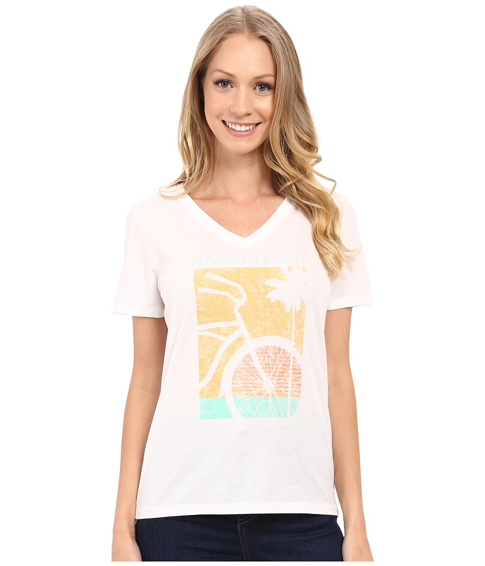 Life is good Happy Hour Bike Cool Vee Cloud White Womens T Shirt