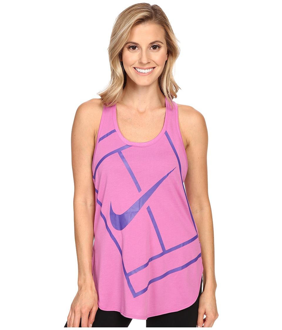 Nike Court Baseline Tennis Tank Top Viola/Viola Womens Sleeveless
