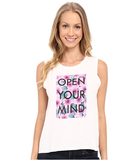 Life is good Open Your Mind Floral Muscle Tee