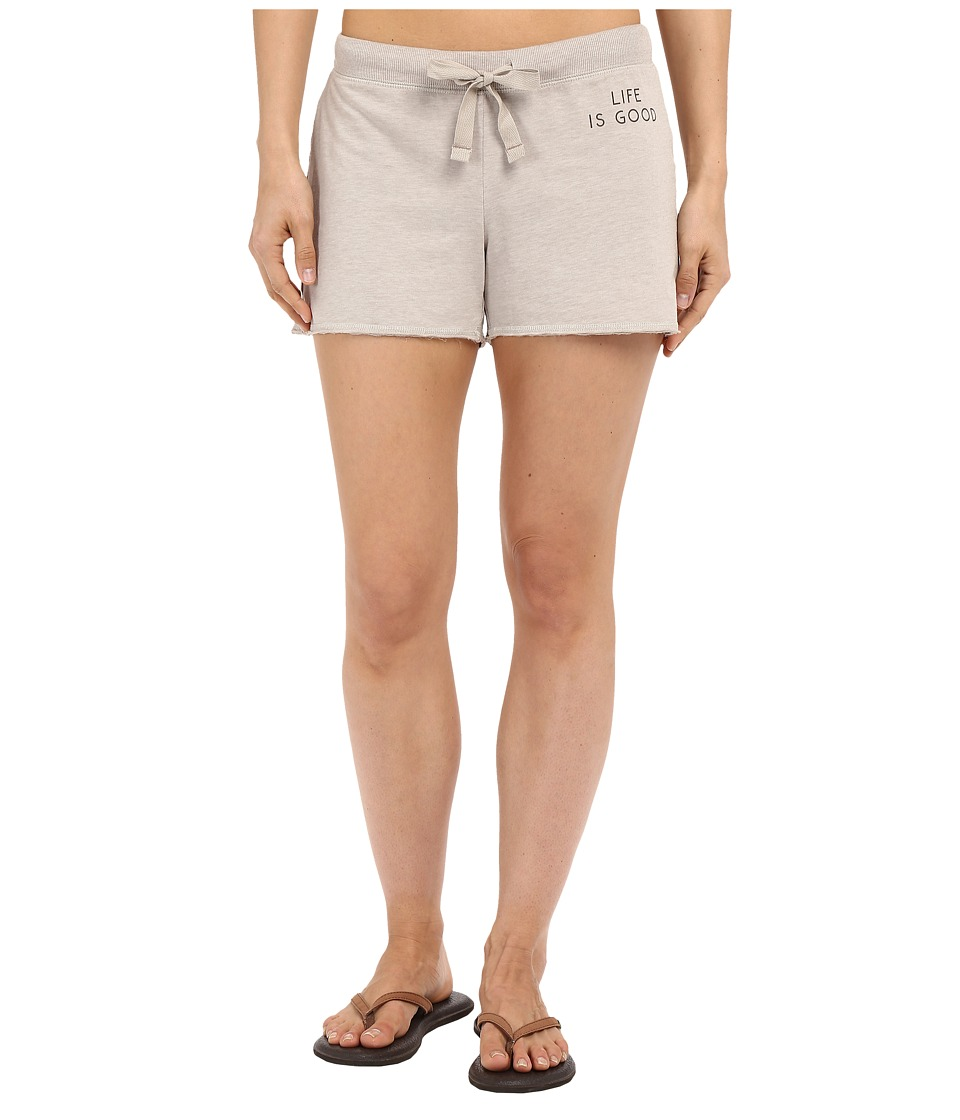 Life is good Life Is Good Bold French Terry Shorts Oatmeal Womens Shorts