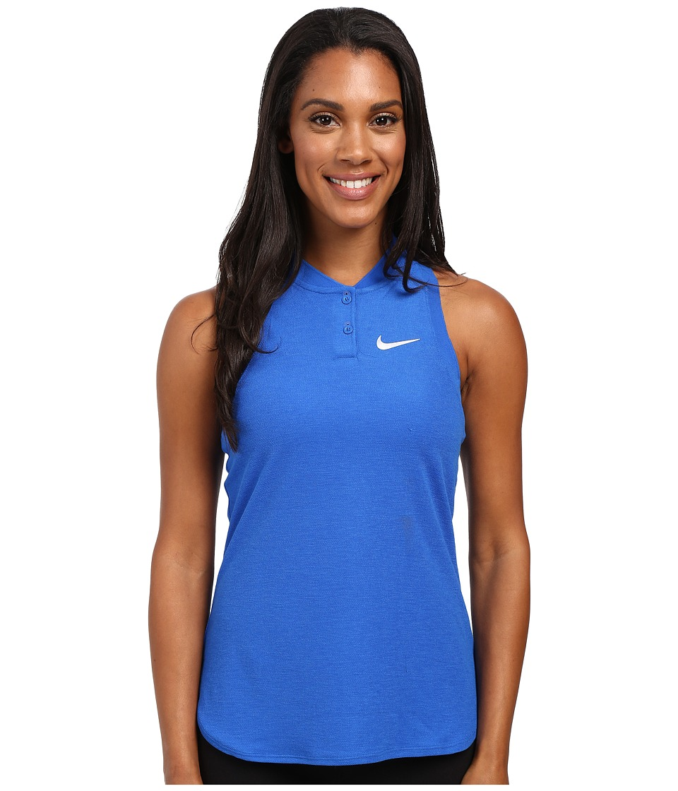 Nike Court Premier Slam Tennis Tank Top Hyper Cobalt/White Womens Sleeveless