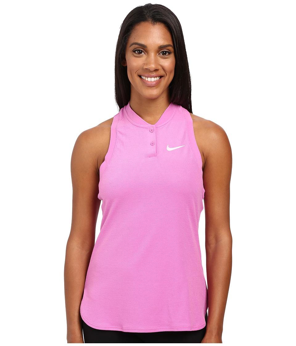 Nike Court Premier Slam Tennis Tank Top Viola/White Womens Sleeveless