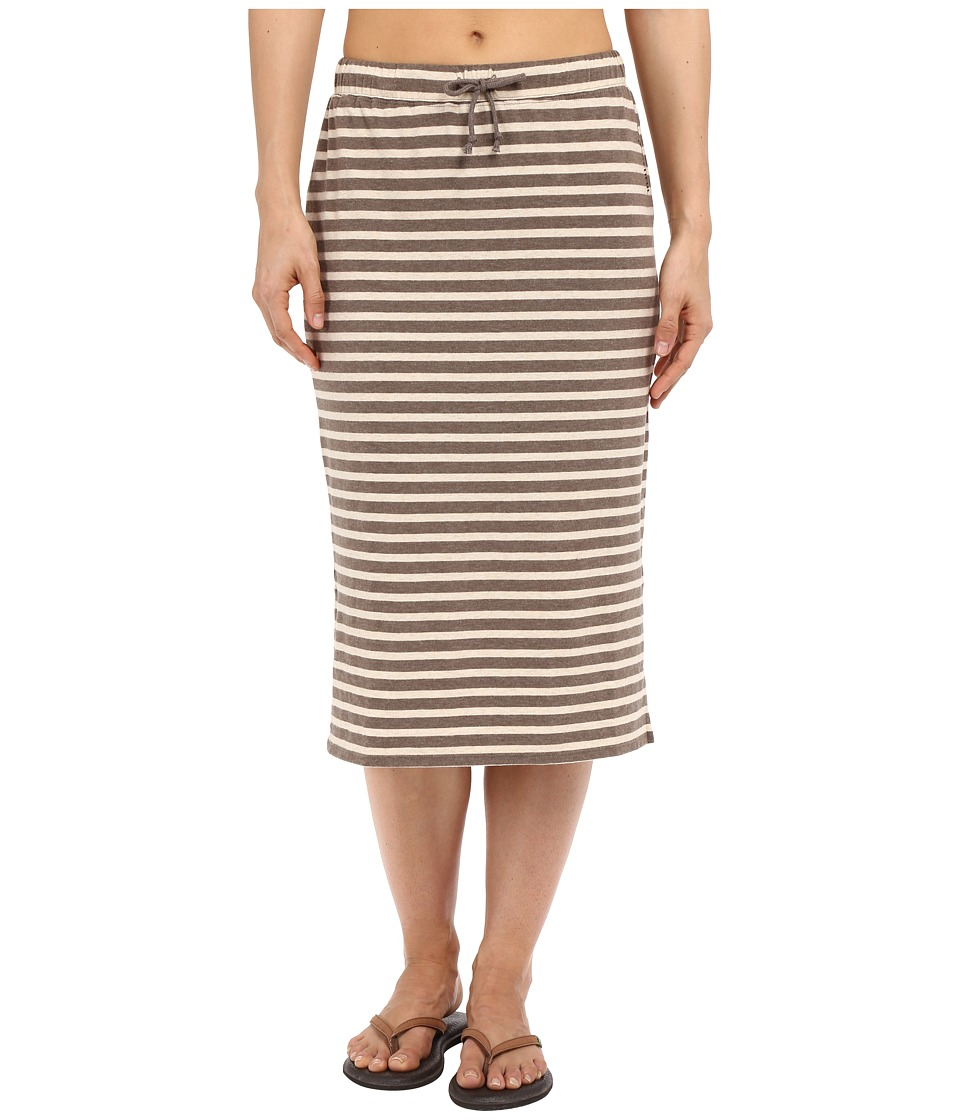 Life is good Be Yourself Midi Length Knit Skirt Shale Brown Womens Skirt