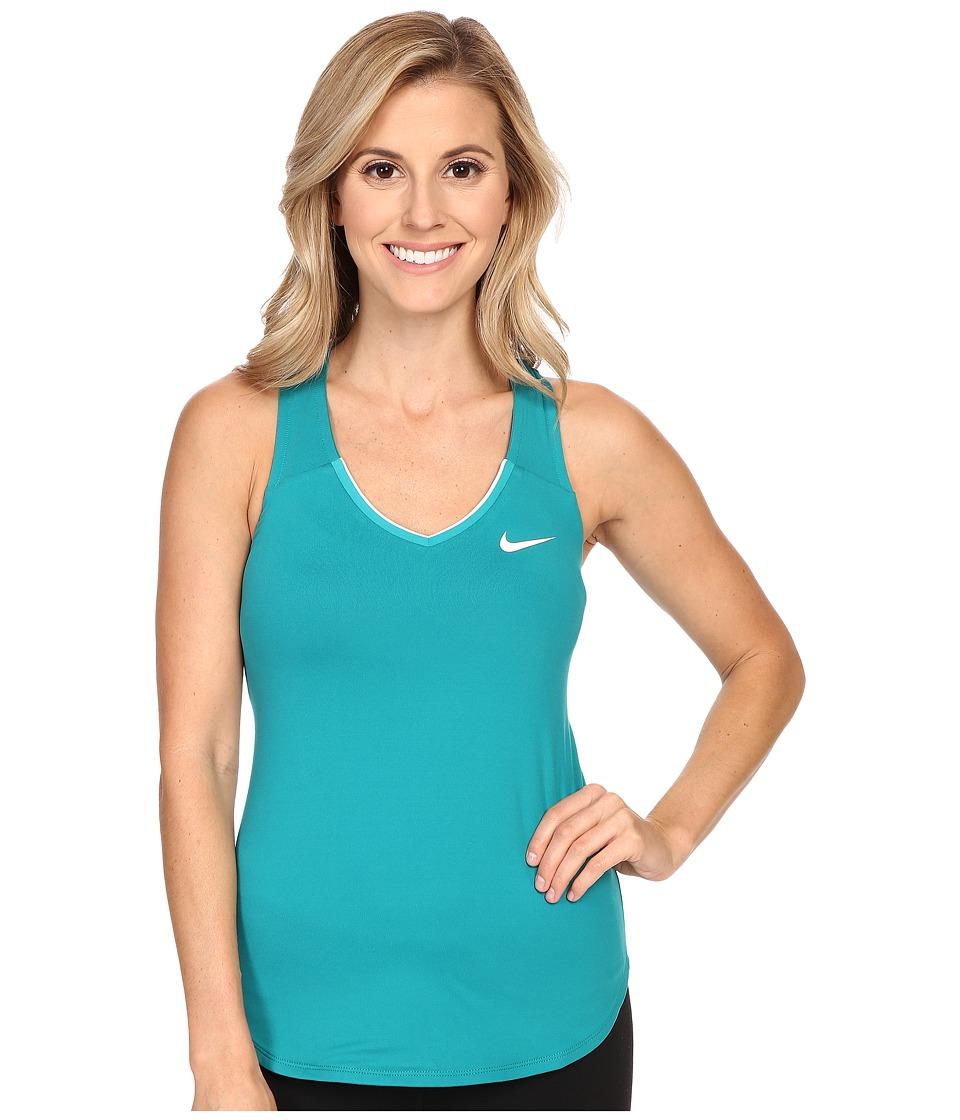 Nike Court Team Pure Tennis Tank Top Energy/White Womens Sleeveless